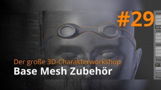 Blender 3D-Charakterworkshop | #29 - Base Mesh Zubehör