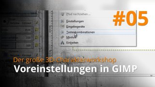 Blender 3D-Charakterworkshop | #05 - Voreinstellungen in GIMP