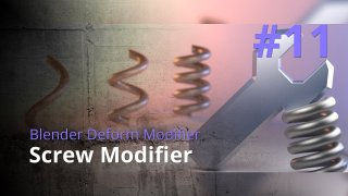 Blender Generate Modifier #11 - Screw Modifier