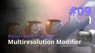Blender Generate Modifier #09 - Multiresolution Modifier