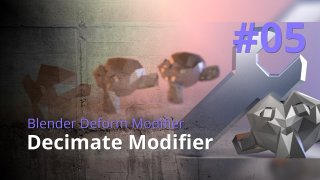 Blender Generate Modifier #05 - Decimate Modifier