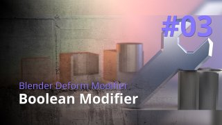 Blender Generate Modifier #03 - Boolean Modifier