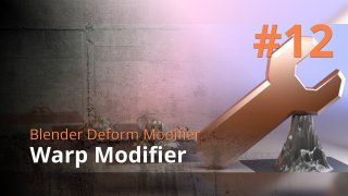 Blender Deform Modifier #12 - Warp Modifier