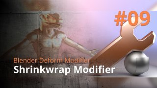 Blender Deform Modifier #09 - Shrinkwrap Modifier
