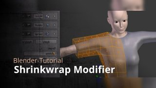 Blender - Shrinkwrap Modifier
